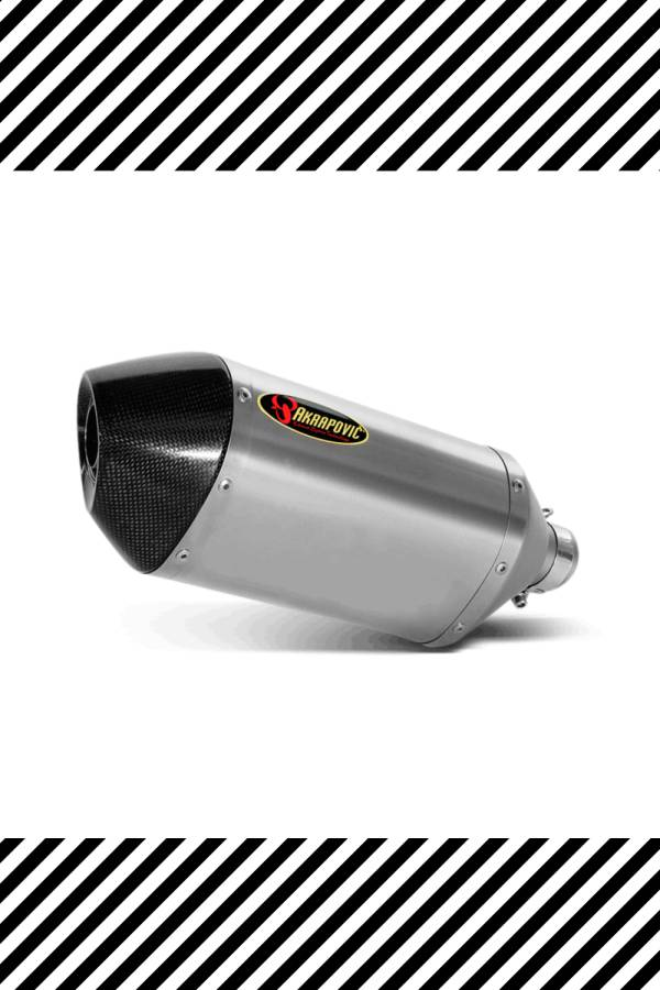 Silver Akrapovic exhaust for Yamaha R6 2007