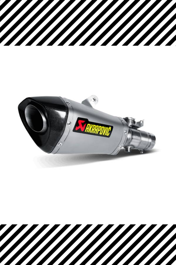 Silver exhaust for Yamaha R6 Akrapovic 2016