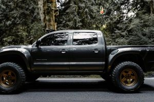 Tacoma on wide gold wheels