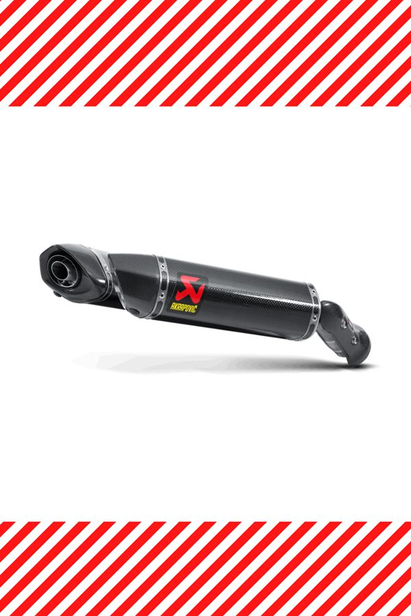 Small Akrapovic exhaust black Carbon for R1
