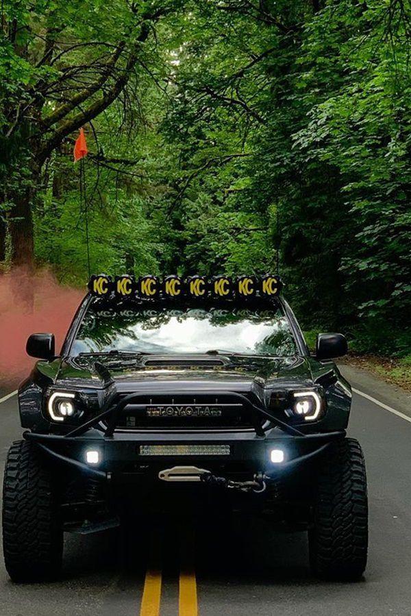KC lights custom black tacoma