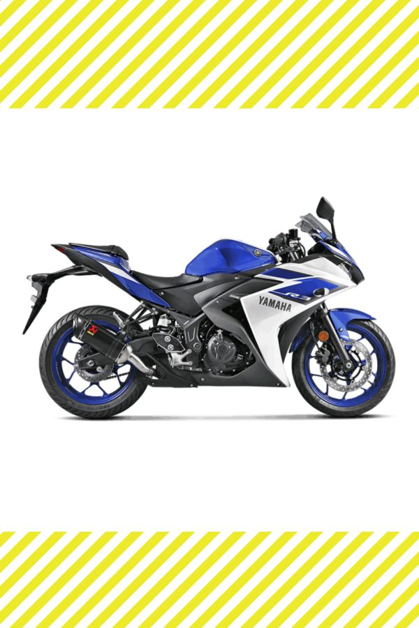 Carbon Akrapovic exhaust on New Yamaha R25 and R3 old model