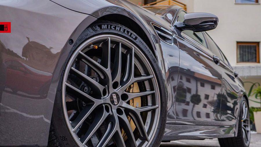 Black alloy wheels TSW