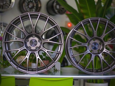 two alloy wheels