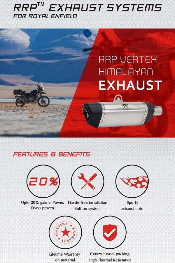specs for rrp exhaust