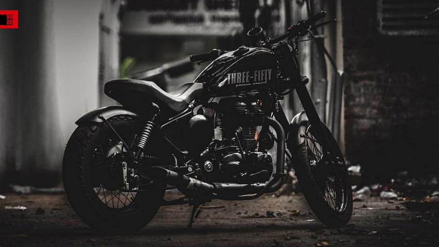 Modified Royal Enfield Classic black
