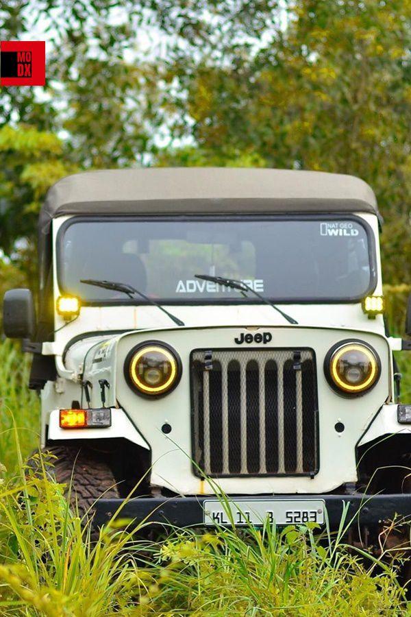 Gold Headlight mod Mahindra Jeep