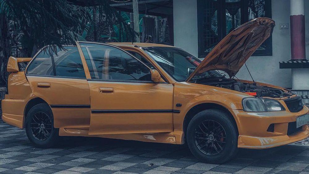 Honda City yellow colour mod
