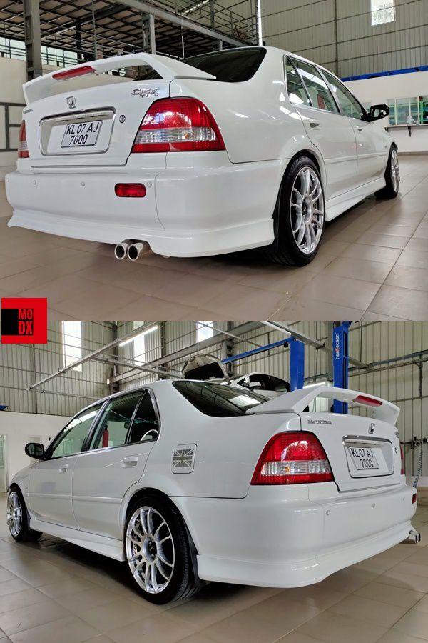White Honda rear