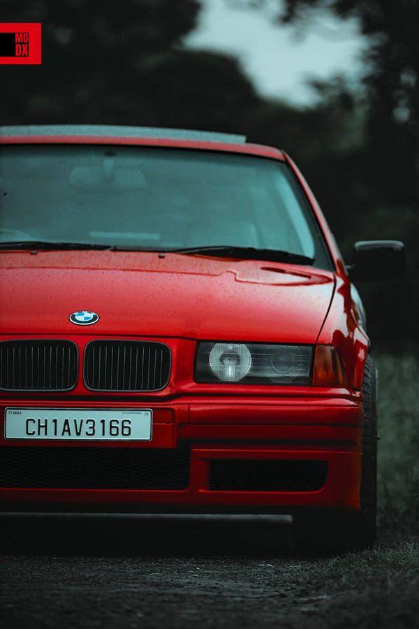 Cherry red BMW E36