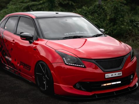Bagged hatchback maruti car