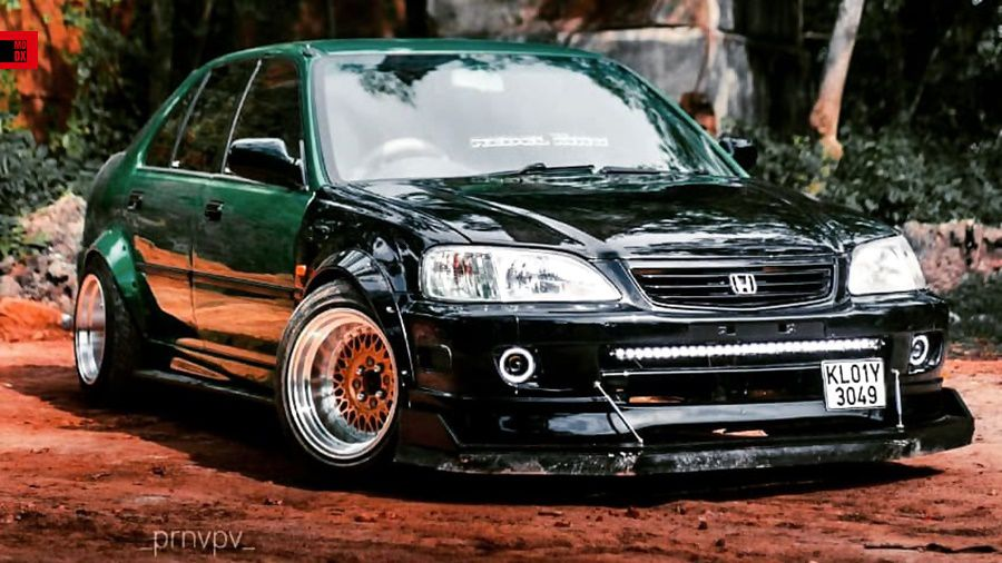 Modified Honda City with BBS wheels