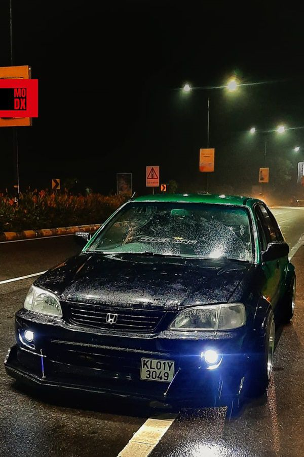 Black Green Honda City