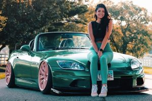 cute girl grace with green s2000