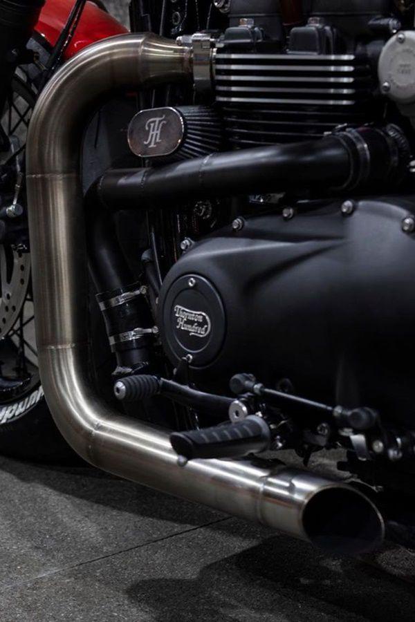 triumph custom exhaust pipe