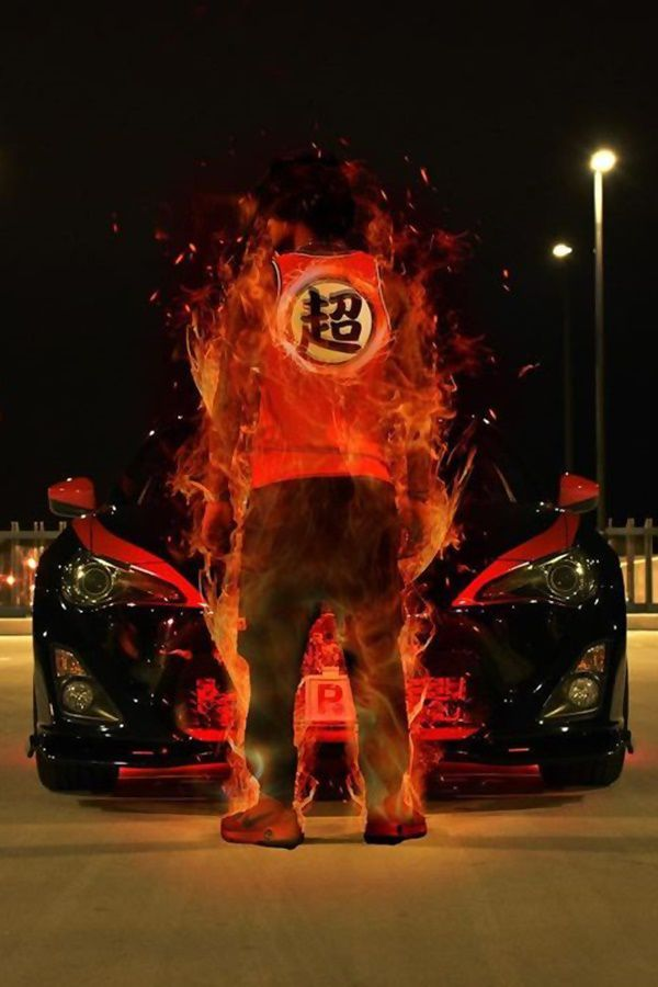 Super saiyan flame