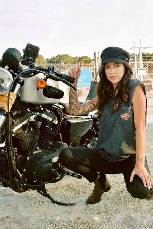 country bike girl